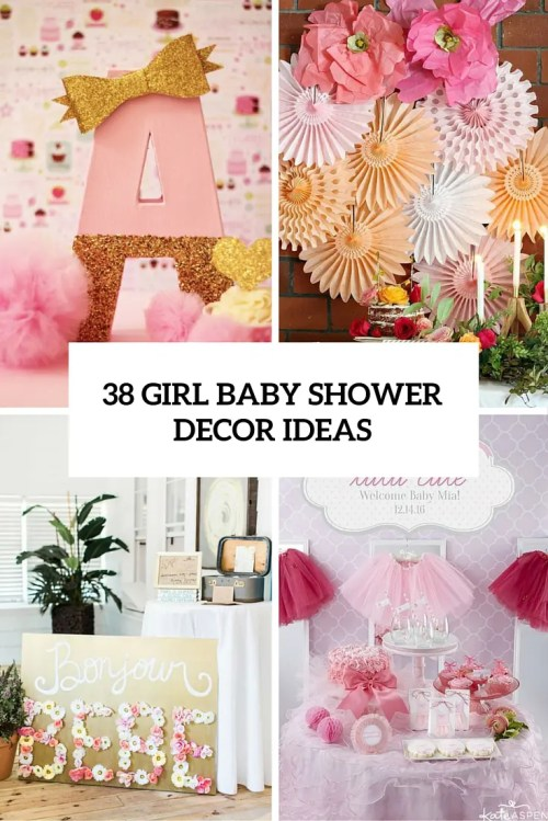 Medium Of Girl Baby Shower Themes