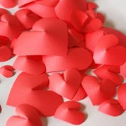 3d hearts for wall decoration