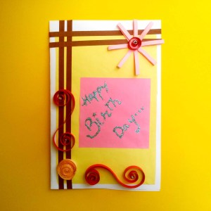 Happy Birthday Quilling Card