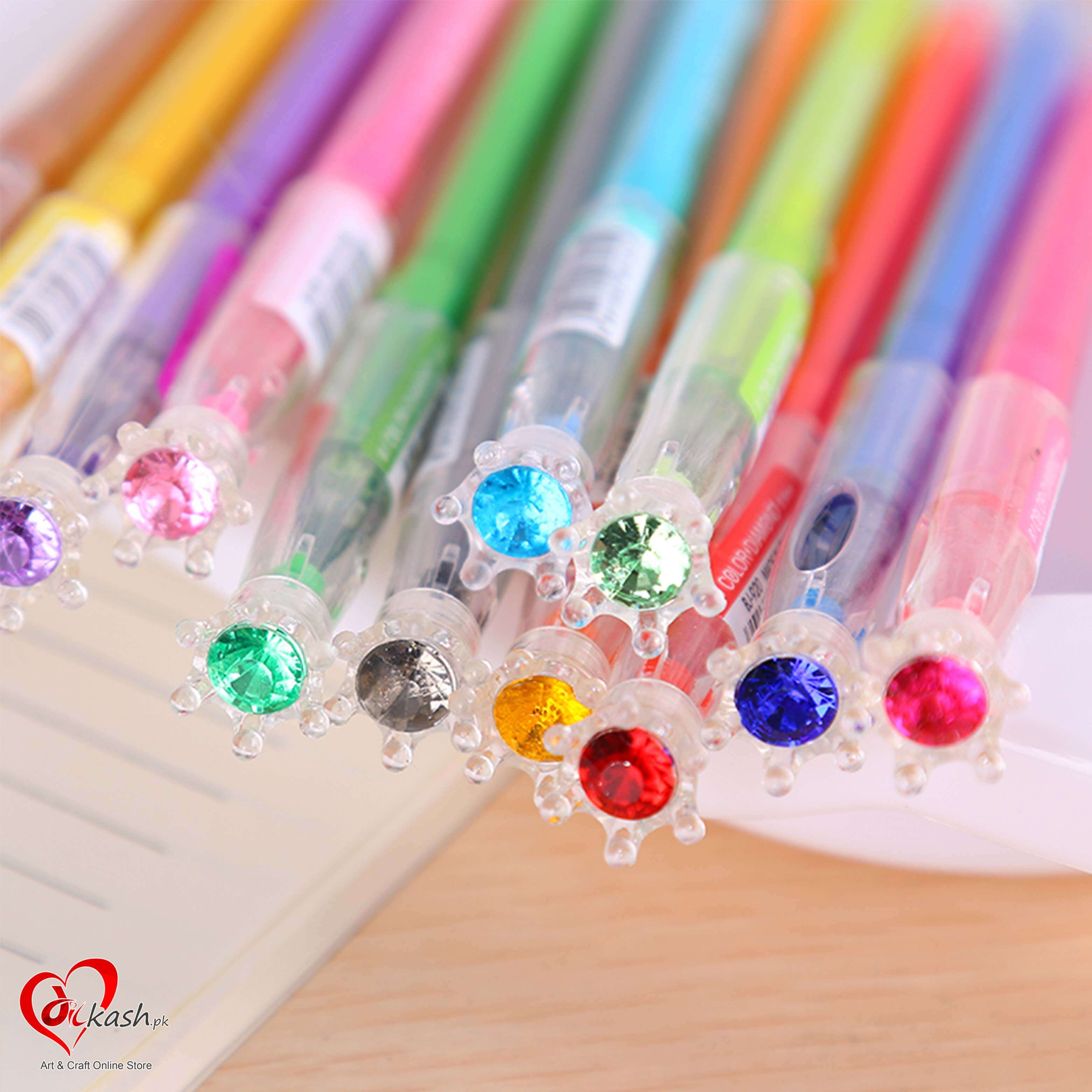 south-korea-stationery-colored-diamond-head-neutral-pen-crown-signature-pen-0-5mm12m