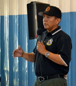 Type 3 SW Incident Management Team Commander Leon Ben Jr., a San Carlos Apache, will assume command of the Asaayii Fire at 6 .m on June 26, 2014. Photo by Marley Shebala.