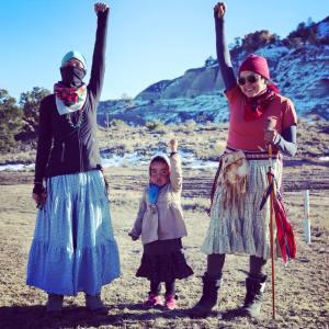 Warrior women of Nihigaal Bee Iina. Photo courtesy of Nihgaal Bee Iina.