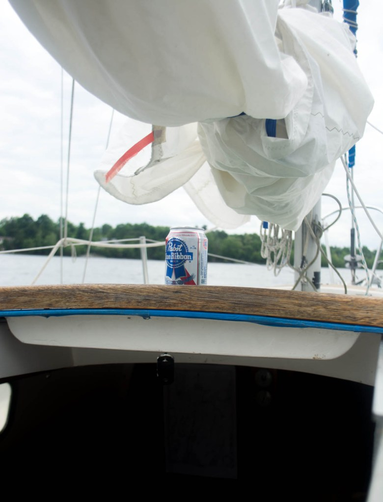 Bristol 24, anchored, live aboard, on the hook