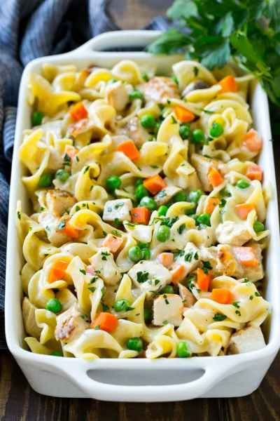 Chicken Noodle Casserole - Dinner at the Zoo