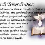 Pidamos a Dios que nos libre de temores