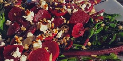 Baby Beets and Greens Salad