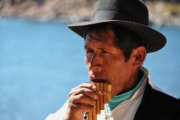 Uomo sull'Isola di Taquile, Titicaca - Perù
