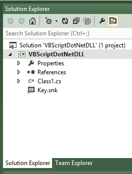 Visual Studio 2012 Solution Explorer