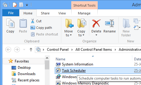 2 Task Manager option in Administrative Tools