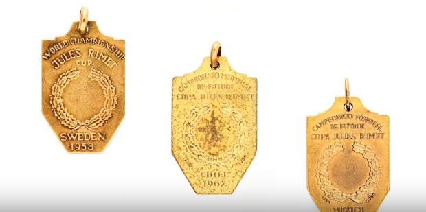Pele's World Cup medals, expected to sell for up to $200,000.