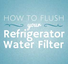 How to Flush Your Refrigerator Water Filter
