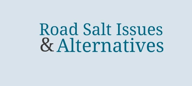 Road Salt Issues and Alternatives