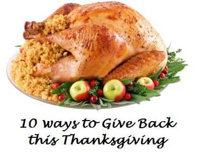 10 Ways You Can Give Back this Thanksgiving Season