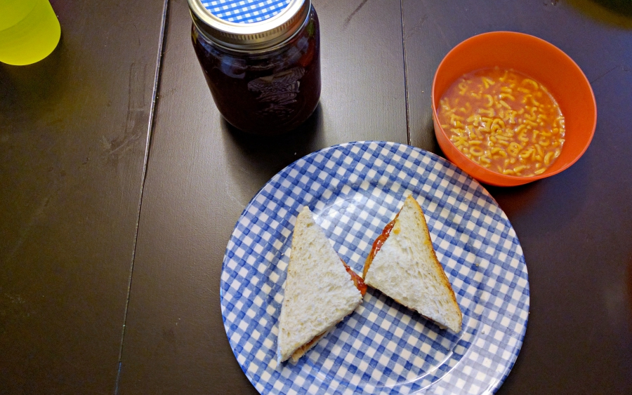 peanut butter and jelly sandwiches, childhood first foods
