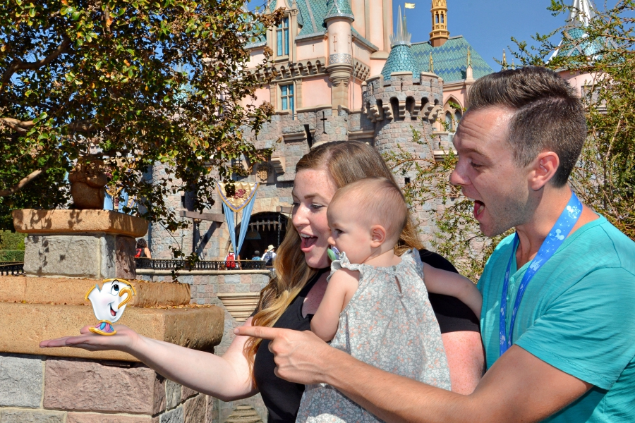 Beauty and the Beast 25th Anniversary Edition now available on Blue-ray + DVD. Meeting Chip in Disneyland.