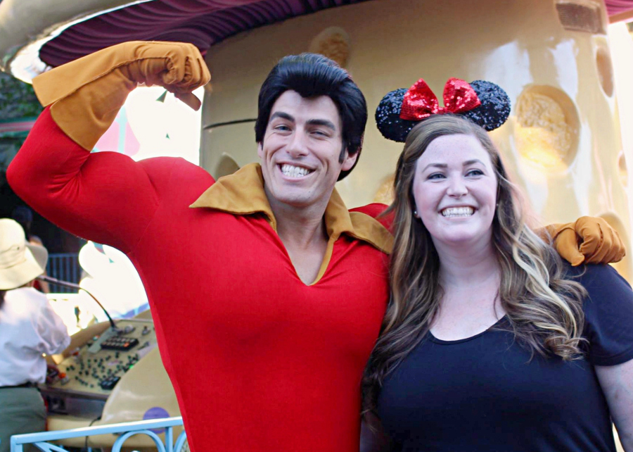Beauty and the Beast 25th Anniversary Edition now available on Blue-ray + DVD. Meeting Gaston in Disneyland.