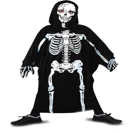 disfraz de esqueleto infantil para halloween
