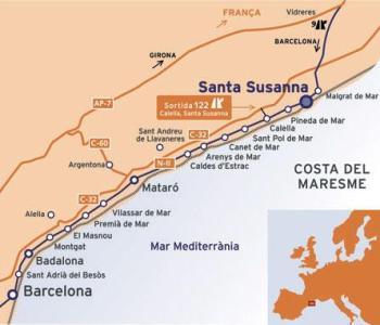 Santa Susanna, playas de arena limpia