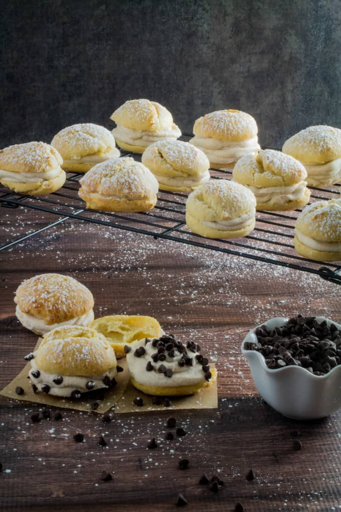 Gluten Free Cannoli Cream Puff Pastry - Dishing Delish