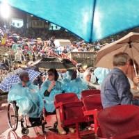 L'Arena con la pioggia