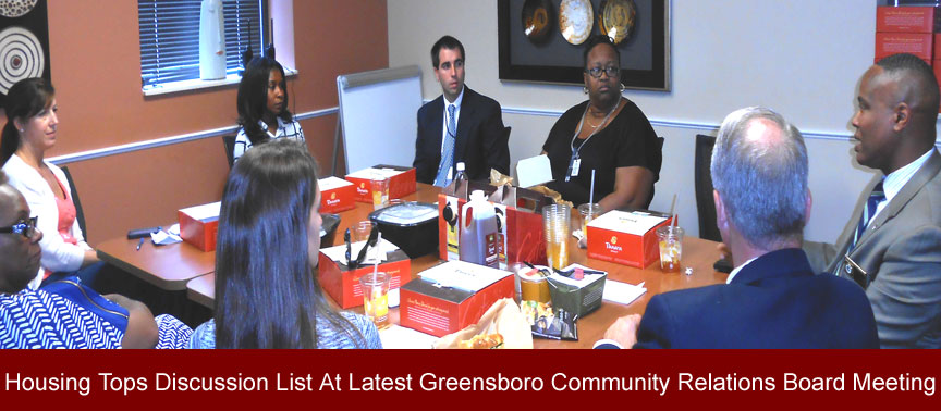 Housing Tops Discussion List At Latest Dismas Charities Greensboro Community Relations Board Meeting