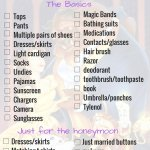 Disney honeymoon packing list