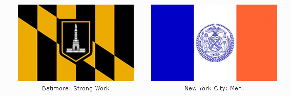 Baltimore &amp; New York Flags