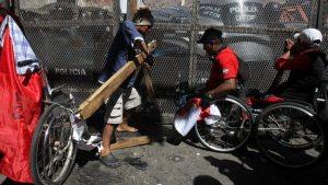 protestas discapacitados