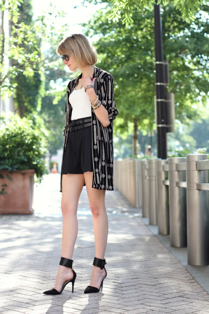 vintage robe and culottes