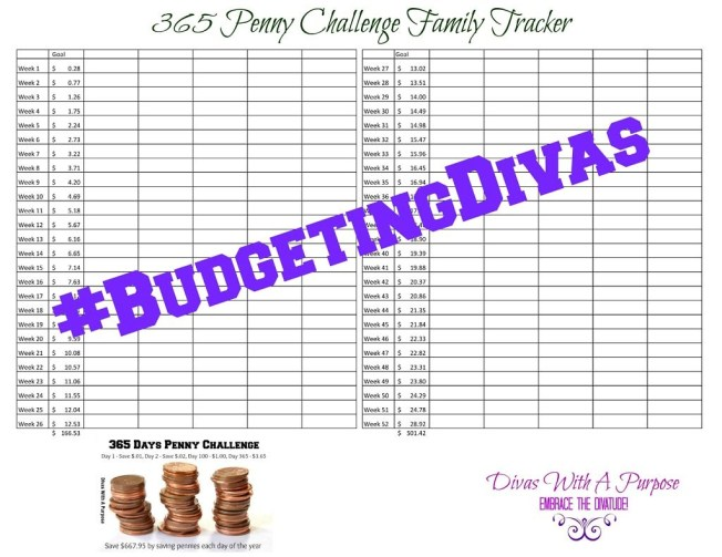 365 Penny Challenge Family Tracker