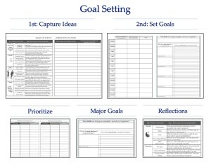 Goal Setting Using #Tools4Wisdom's Weekly Planner