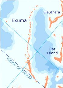 Exuma map