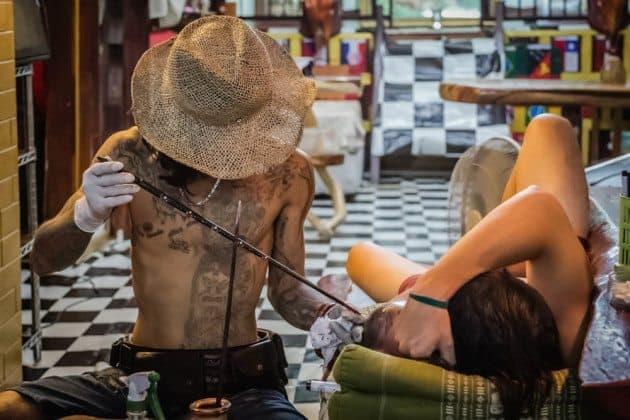 Bamboo tattoo thailand for Cliffs tattoo long island
