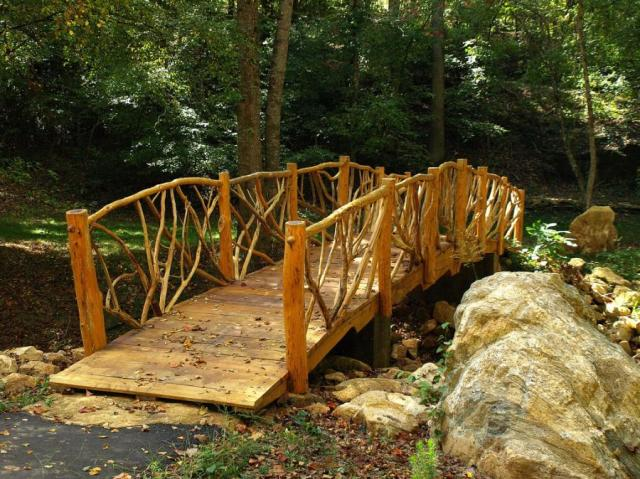 Rustic Wooden Footbridge at Acadia - Powdersville, South Carolina,