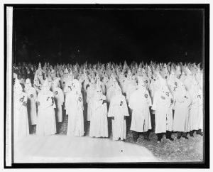 A Klu Klux Klan rally from 1921 or 1922. Photo courtesy of National Photo Company Collection (Library of Congress)