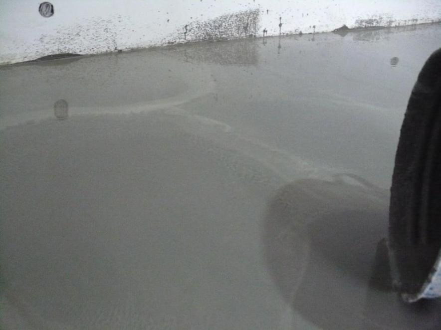 Залитый наливной пол фото