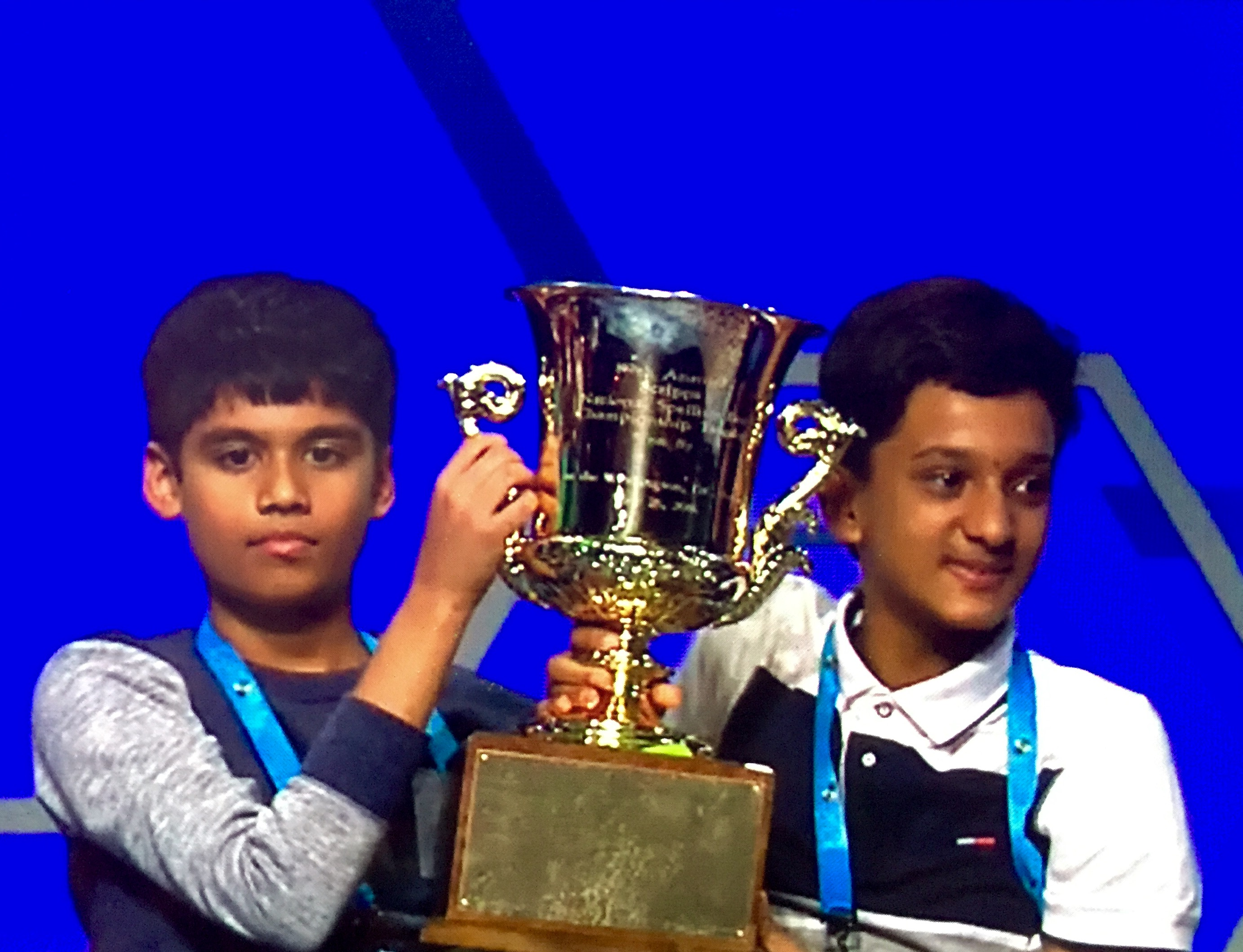 Indian-American kids declared co-champions of Scripps National Spelling Bee