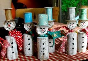 Wind Cork Snowmen