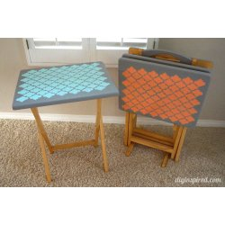 Rummy Tv Tray Table Upcycle Diy Inspired Tv Tray Tables On Wheels Tv Tray Tables Adjustable Height