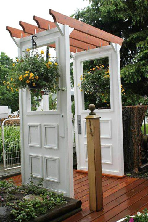 Door Patio Trellis