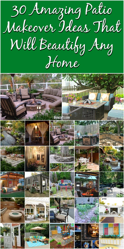 30 Amazing Patio Makeover Ideas That Will Beautify Any Home {Brilliant collection}