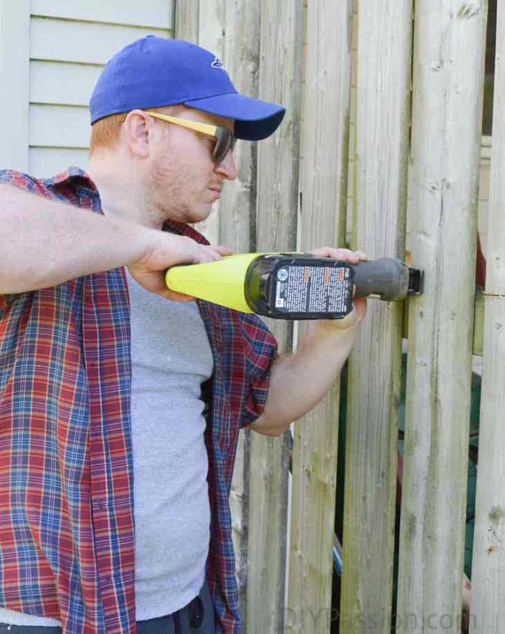 Using a reciprocating saw to demo part of the deck