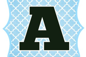 Blue_Black Letter_A