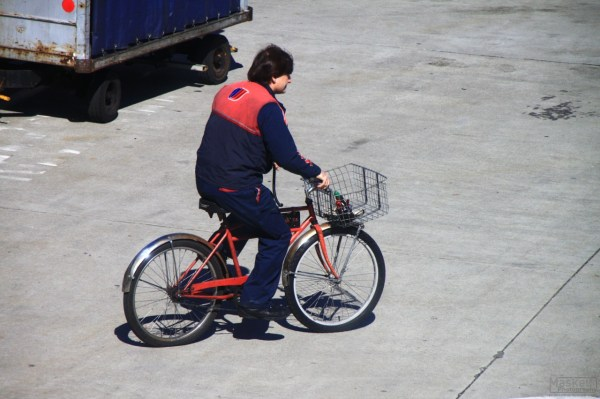 some dude on a bike