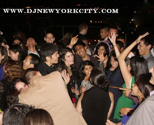 Photo of corporate party at the Press Lounge, the rooftop lounge of the Ink48 hotel.