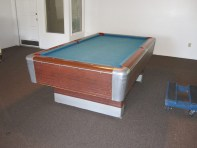 pool table about to be moved out
