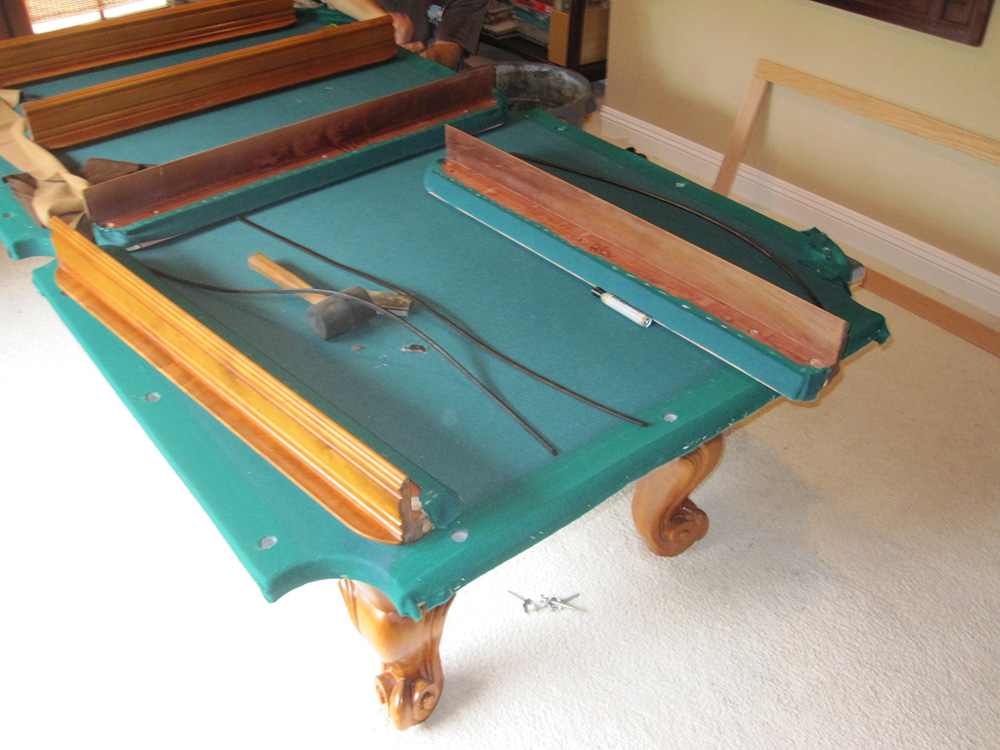 Chinese pool table refelt dk billiards service and showroom - Pool table green felt ...