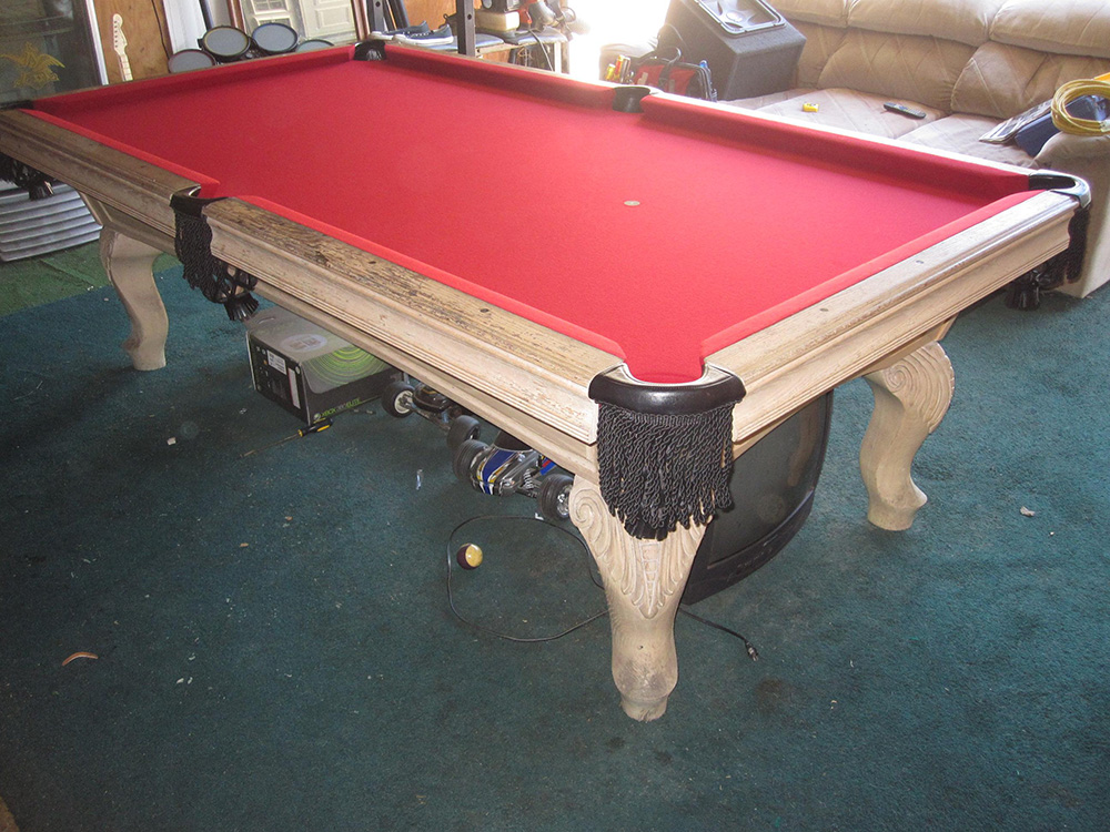 Dirty Old Pool Table Comes Clean Dk Billiards Pool Table