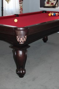 "Finished installing this 7' Connelly ""san carlos"" pool table."