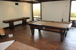We also provided our client with a custom size 9' shuffleboard table.